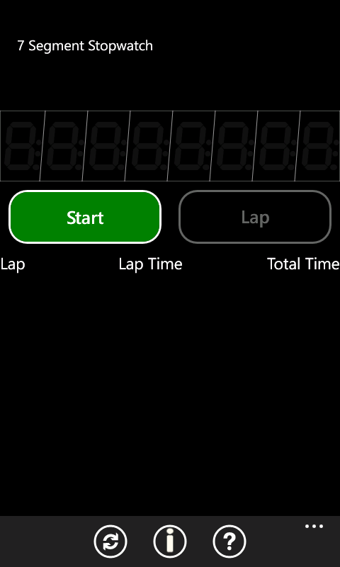 Stopwatch screenshot 1