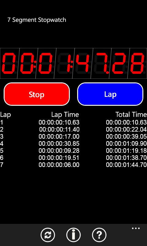 Stopwatch App screenshot