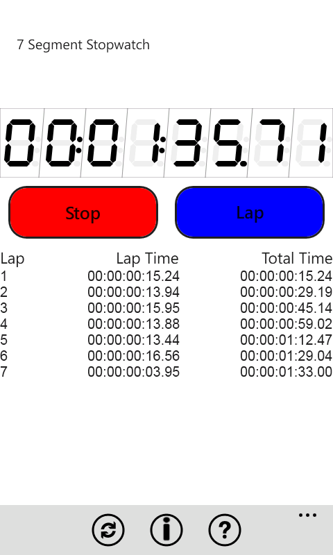 Stopwatch screenshot 4
