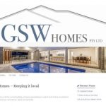 Website development and maintenance for GSW Homes